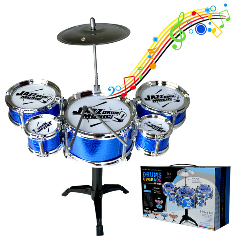 Kids Musical Drum Instrument Toys 5 Drums Simulation Jazz Drum Kit Education Learning Music Toy Children Christmas Gifts