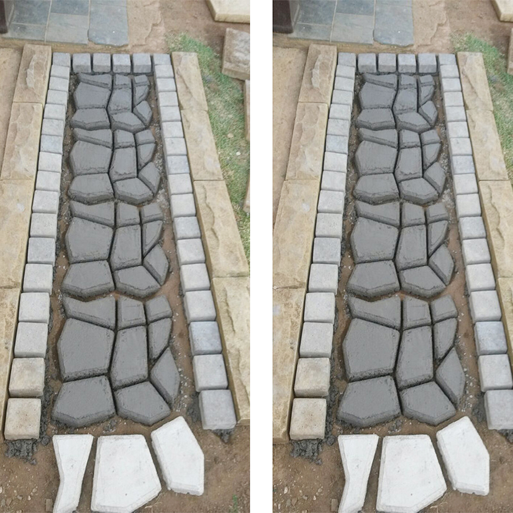 cheapest DIY Paving Cement Brick Concrete Molds Plastic Path Maker Mold Garden Stepping Driveway Mold Garden Stone Road Patio Path Maker