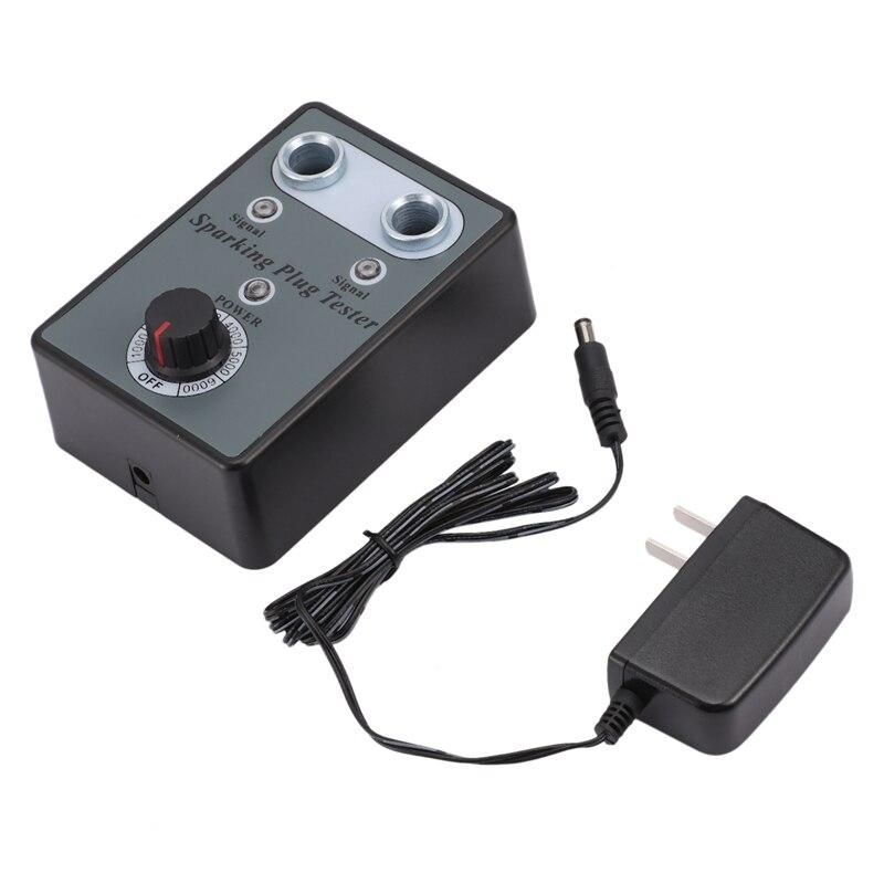Car 12V Plug Tester Double Hole Detector Analyzer Diagnostic Tool with Adjustable EU Plug|  - title=