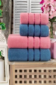 Zestaw ręczników kąpielowych 100 bawełna 4 sztuki dla dorosłych szybkie pranie łatwe czyszczenie łazienka twarz skompresowana plaża Hotel Foot Made in Turkish tanie i dobre opinie TEKSMODA TR (pochodzenie) RĘCZNIK KĄPIELOWY Bez wzorków wyszywana Rectangle Szybkoschnący 5 s-10 s W jednym kolorze