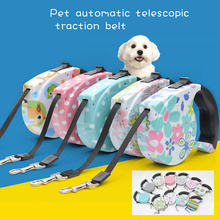 Dog-Traction-Rope Cat Leash Flat-Rope-Print Quick-Release-Type 5M Heavy-Duty Walking