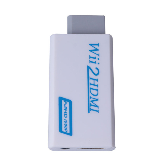Wii to HDMI Converter Adapter Full HD 1080P for Wii2HDMI Converter 3.5mm Audio for PC HDTV Monitor Display