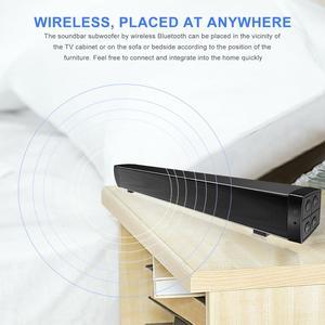 Image 4 - 블루투스 사운드 바, 홈 시어터 서라운드 사운드 용 휴대용 유선 및 무선 미니 사운드 바 스피커