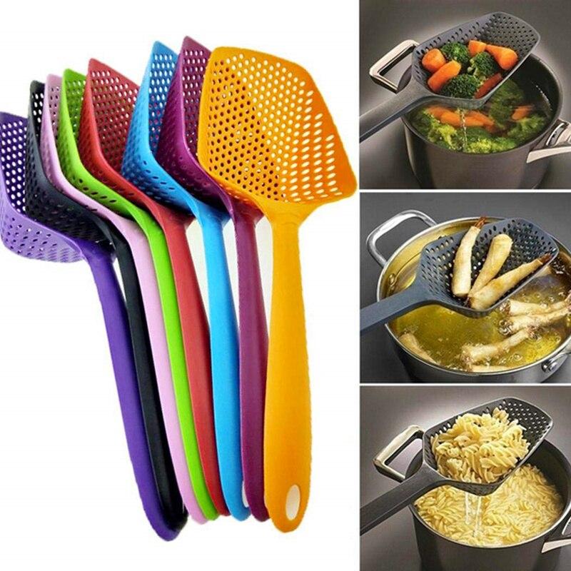 Soup Ladle+Baby Tea Infuser Pasta Noodles Colander Spoon Family Kitchen Gadget Colander Spoon Spoon Set