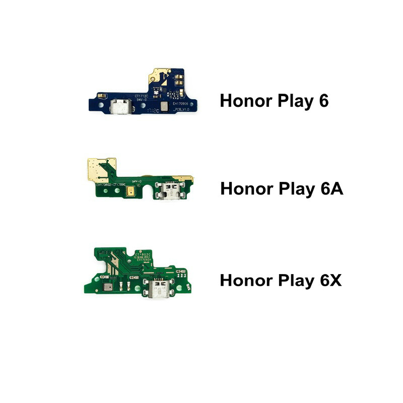 New USB Charge Board & Microphone Module For Huawei Honor Play 6 6A 6X Charging Port Dock Flex Cable Repair Parts