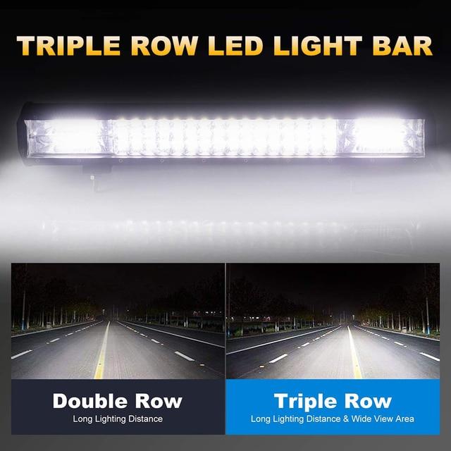 """Nlpearl 15"""" 20"""" 24"""" 26"""" 30"""" Combo Spotlight LED Light Bar for Driving Offroad Tractor Truck 4x4 SUV ATV 12V 24V LED Work Light"""