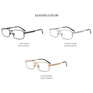 Image 4 - Oprawa okularów z czystego tytanu mężczyźni plac krótkowzroczność oprawki do okularów korekcyjnych okulary dla mężczyzn mężczyzna Vintage Ultra lekkie okulary FONEX 1183
