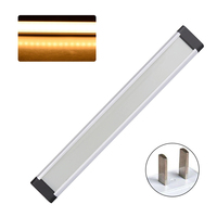 3pcs LED Dimmable Super Bright Under Cabinet Light Strip Kit Counter Remote Control Wardrobe Ultrathin Lamp Bar Showcase Kitchen