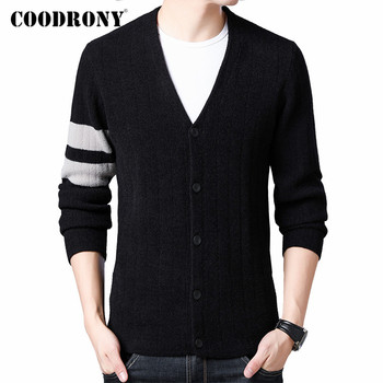 COODRONY Brand Sweater Men Fashion Striped Cardigan Men Clothes Autumn Winter Thick Warm Knitted Coat Cotton Wool Sweaters C1022 men s sweaters autumn and winter clothes men s jackets sweaters warm winter clothes men s clothes sweater men mens sweaters