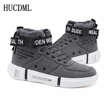 Men Shoes Sneakers Footwear Snow-Boots High-Top Suede Ankle Male Winter Warm HUCDML Plush