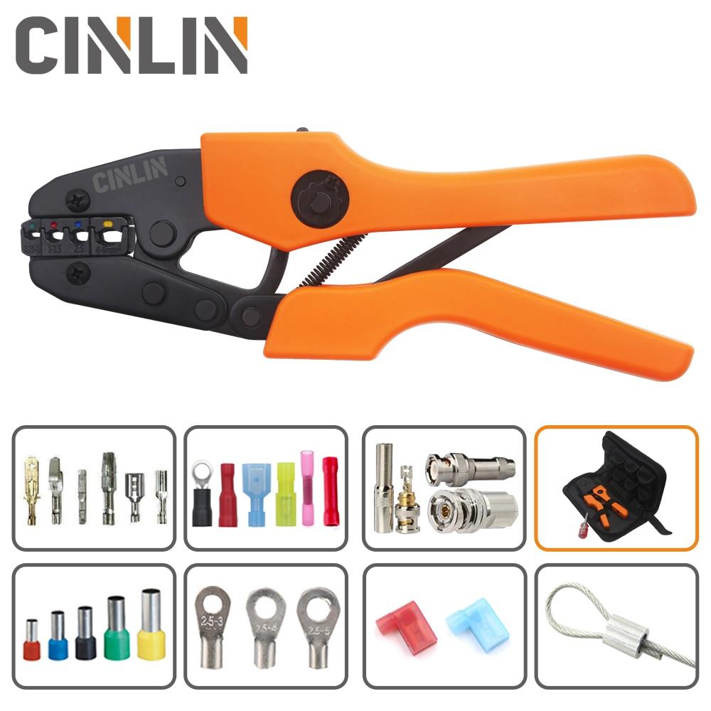 Crimp Pliers & Dies Set Wire Terminals Crimping Tools Precision Crimper Labor-Saving Design Ergonomic Handle Easy To Grasp&Press
