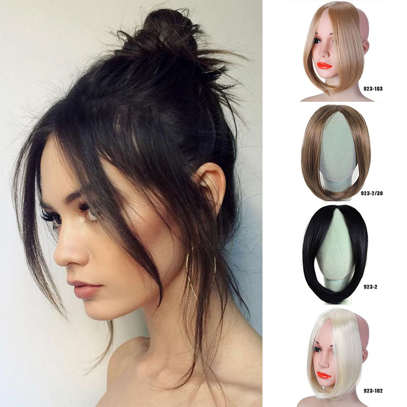 LVHAN Wig Piece Oblique Bangs Flawless Invisible Realistic Bangs Side Partially Divided Into Eight Disguised Bangs Headwear