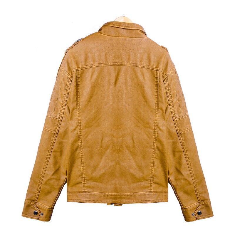 H3c47e6b4952e42a7a2c98d2ab0218311v Luxury 2019 Leather Jackets Men Autumn Fleece Zipper Chaqueta Cuero Hombre Pockets Moto Jaqueta Masculino Couro Slim Warm Coat