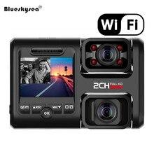 цена на Car Dual Dash Cam WiFi GPS Camera DVR 1080P Full HD Front & Rear for Car Recorder IPS Screen 170° Wide Angle Loop Recording
