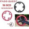Пройти квеста цепное колесо для велосипеда 94BCD 32T 34T 36T 38T 40T черный/красный передний один диск бензопилы NX GX X1 MTB горный велосипед запчасти