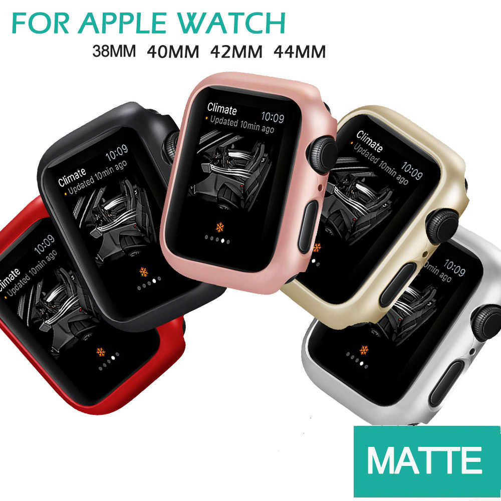 マット Apple 腕時計シリーズ 5 4 44 ミリメートル 40 ミリメートルフレーム保護ケースカバーシェル完璧なバンパーケースため iWatch 4 カバー