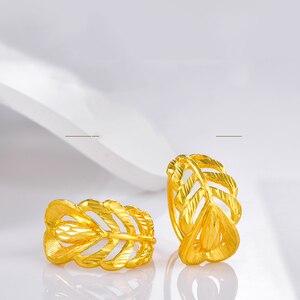 Image 3 - SFE boucles doreilles en or pur 24K, véritable AU 999, bijoux en or massif, jolies, avancées, tendances, meilleures ventes, nouvelle collection 2020