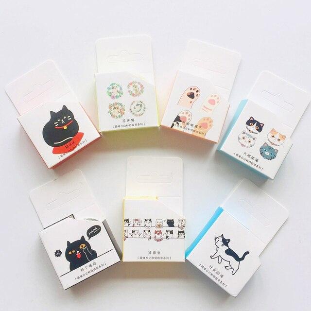Cute Kawaii Adorable Cat Adhesive Paper Washi Tape Masking Tape DIY Scrapbooking Stick Label 5
