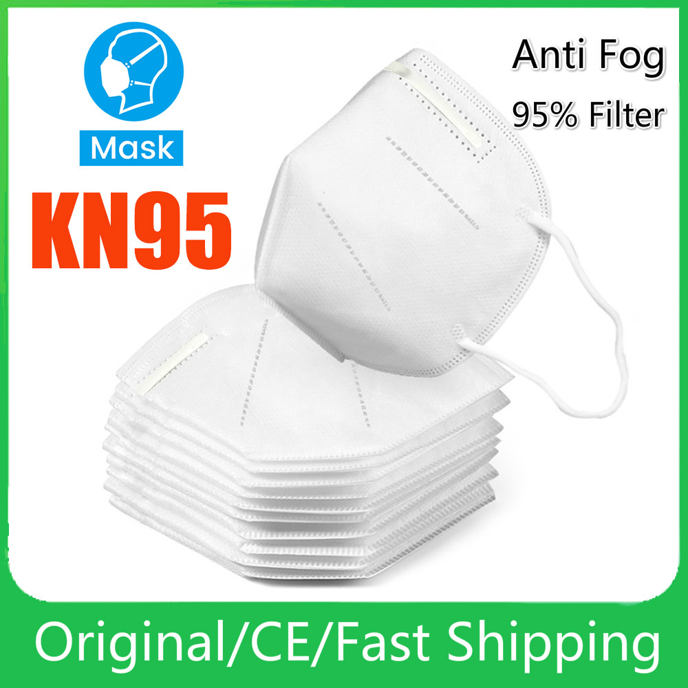 In Stock 10/20/50 PCS KN95 Mask Mouth Caps Anti Dust Prevention Smog Prevention Masks Masque Fast Drop Shipping