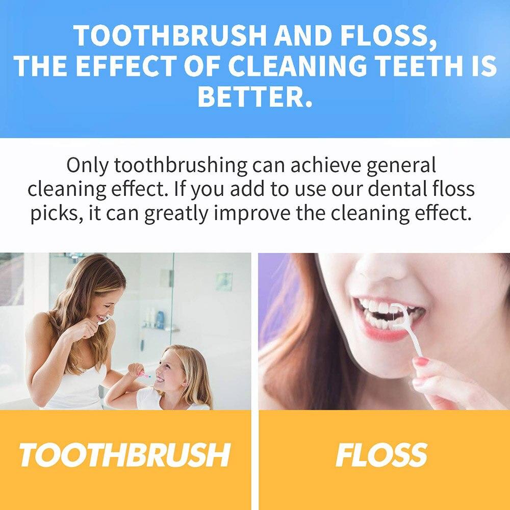 50 шт./лот зубная нить гигиена полости рта Стоматологическая палочки Стоматологическая Вода для полости рта зубы Палочки зуб Палочки s ABS нить с Портативный чехол