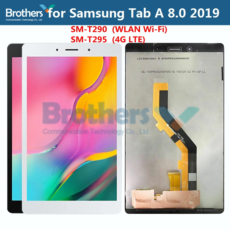 For Samsung Galaxy Tab A 8.0'' 2019 SM-T290 SM-T295 T290 T295 LCD Dispaly Assembly for Tablet LCD Screen Touch Screen Digitizer