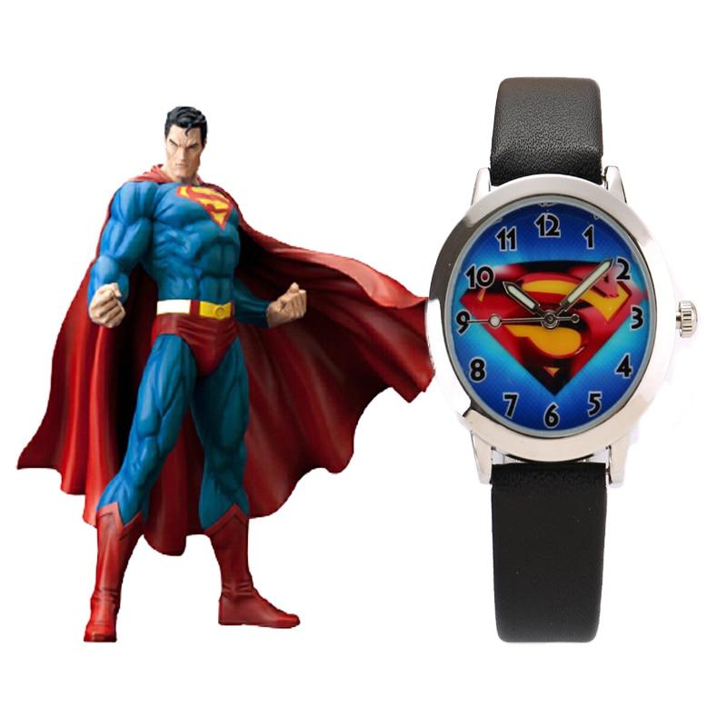 Marvel Hero  Cartoon Watch Hodinky Top Brand Children Leather Strap Quartz Watch Ceasuri Kids Outdoor Clock Boy Girls Gift Saats