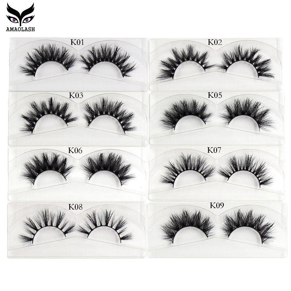 amaolash 50 pares lote maquiagem 3d vison cilios posticos naturais volume dramatico falso cilios extensao dos