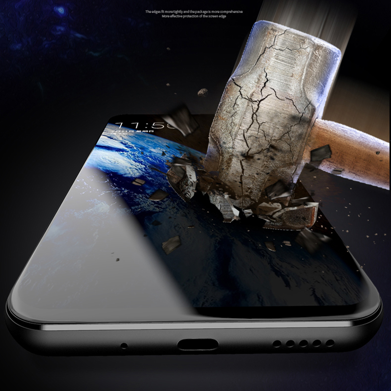 EXUNTON Full Coverage Matte Tempered Glass Screen Protector For Samsung Galaxy S10E 8