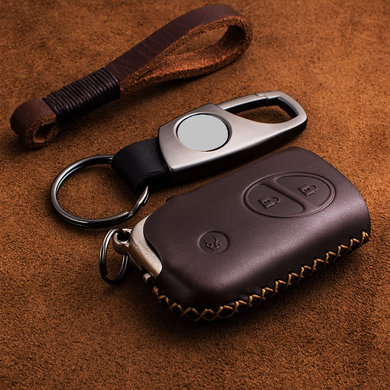Genuine Leather Key Case Key Cover Protect Bag for Lexus CT200H <font><b>GX400</b></font> GX460 IS250 IS300C RX270 ES240 ES350 LS460 GS300 450h 460h image