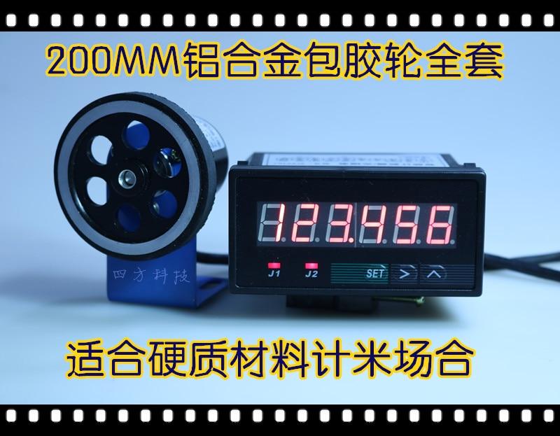Meter Counter Electronic Digital Display High Precision 9648J Line Speed Code Counter Encoder Edge Banding Machine Meter Wheel