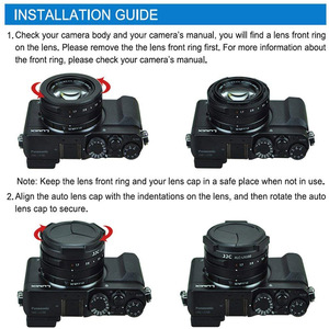 Image 3 - JJC Automatical Auto Lens Cap for Panasonic LUMIX DMC LX100 DMC LX100II LEICA D LUX (Typ 109) D LUX7 As DMW LFAC1 Protector Hood