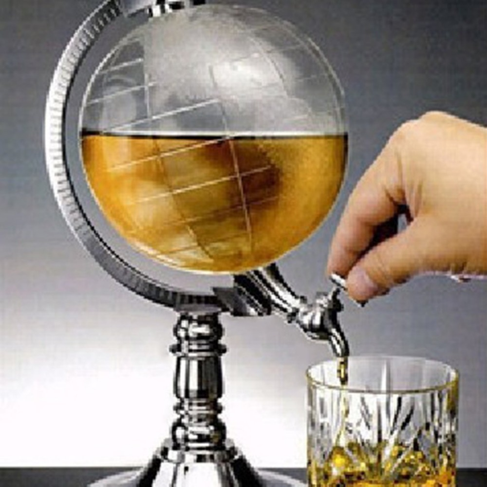 2017 Unique Design Mini Globe Shape Home Night Club Beverage Liquor Dispenser Beer Liquid Drinking Dispenser Machine Tools image