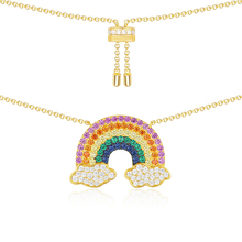 Kelley high quality original 925 sterling silver necklace A rainbow shaped PM brand designed Monaco style ladies fashion jewelry