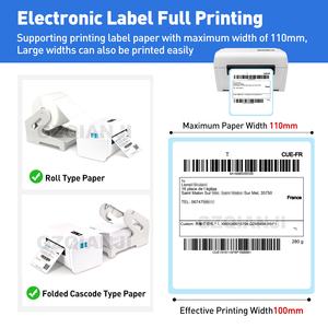 Image 4 - Thermal Barcode Label Printer 4 Inch 100mm With Label Holder Compatible Ebay Etsy Shopify 4×6 Shipping Shiping Barcode Printer