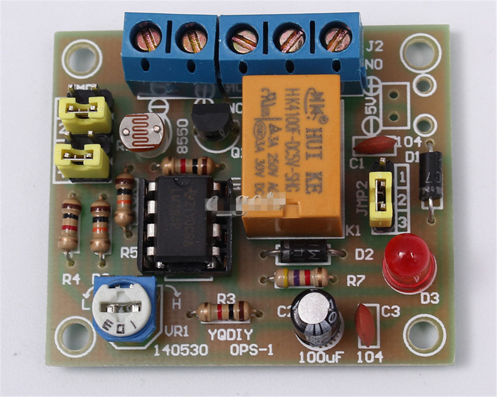 Photosensitive resistance relay control module//light-operated switch DC 12V FXJ