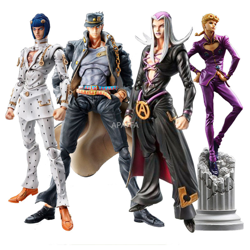 Action-Figure Anime-Toy Jojo's Bizarre Bruno Kujo Adventure Jotaro Bucciarati Giovanna title=