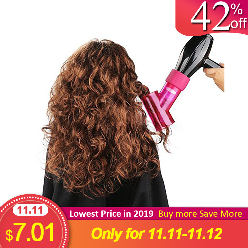 6 Color Universal Hair Curl Diffuser  Cover With Glue Stick Diffuser Disk Hairdryer Curly Drying Blower Hair Curler Styling Tool