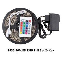 AC DC 12V светодиодный адаптер Светодиодные ленты с 5 м Светодиодные ленты Управление; 2835 Питание rgb-пульт дистанционного Управление ИК без Водо...