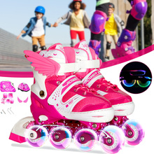 Helmet Roller-Skating-Shoes Inline Skate Patines Girls Kids for Boys Gear Knee-Protector