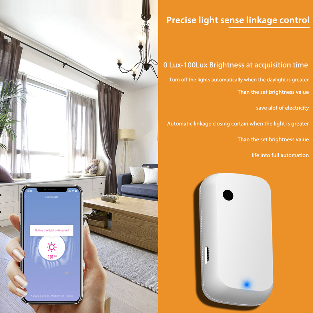 Brightness Remote Control Detector Smart Home Linkage WiFi Light Sensor Simple Design Convenient Replacement Lighting