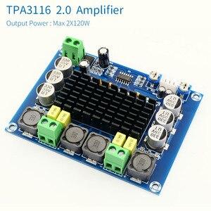 Image 2 - Unisian tpa3116 2.0 canais de áudio placa amplificador tpa3116d2 2x120 w alta potência amplificador áudio estéreo digital
