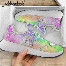 Jackherelook mignon chaussures dentaires baskets dessin animé dents/dentiste fée impression respirant maille chaussures plates Zapatos de Mujer Zapatos