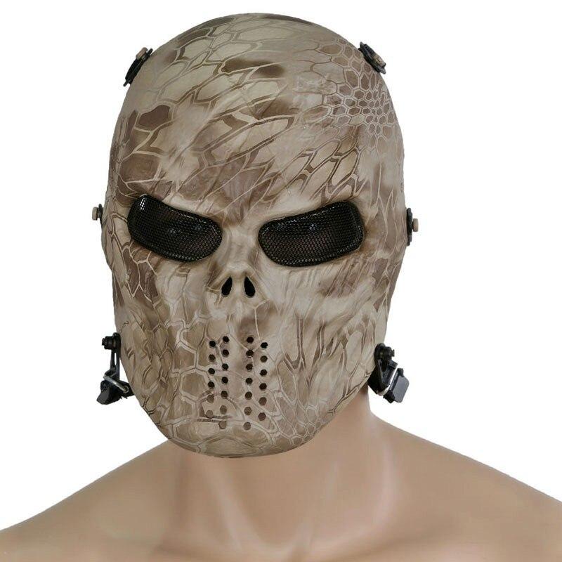 M06 rosto cheio tático máscara militar crânio