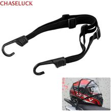 Motorcycle Moto Strength Retractable Helmet Luggage Elastic Rope Strap Bungee Cargo Carrier For Honda Yamaha Accessories 2 Hooks