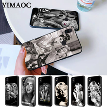 Marilyn Monroe tattoo Silicone Case for Redmi Note 4X 5 Pro 6 5A Prime 7 8