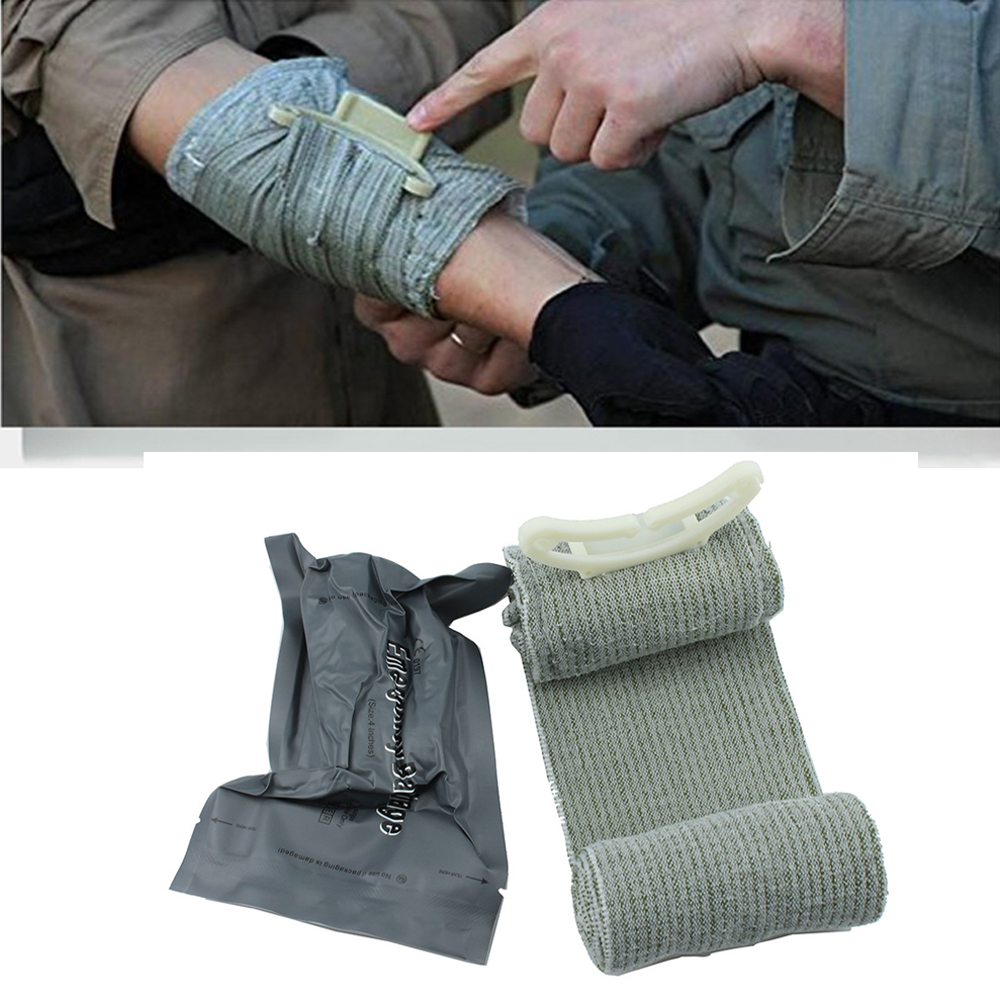 4/6 Inches Madicare Israeli Bandage Trauma Dressing, First Aid, Medical Compression Bandage, Emergency Bandage