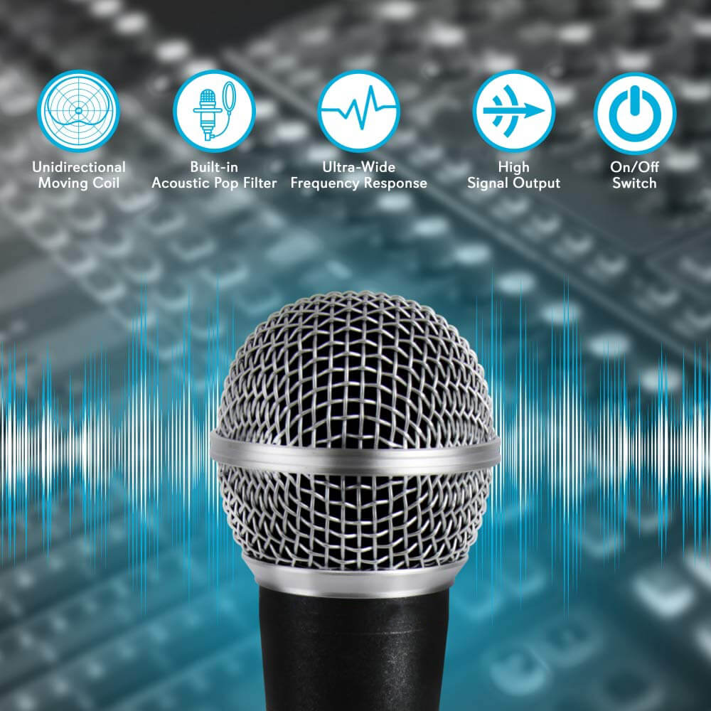 Professional Handheld Moving Coil Microphone Dynamic Cardioid Unidirect One Size