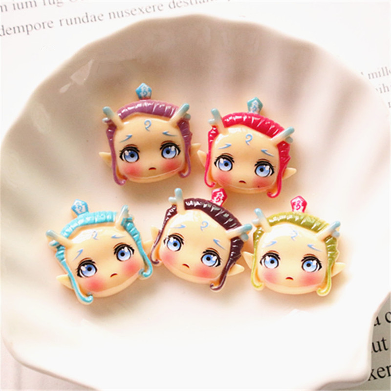10pcs Kawaii Flatback Cabochon Cartoon Resin for DIY Hairpins Ornaments