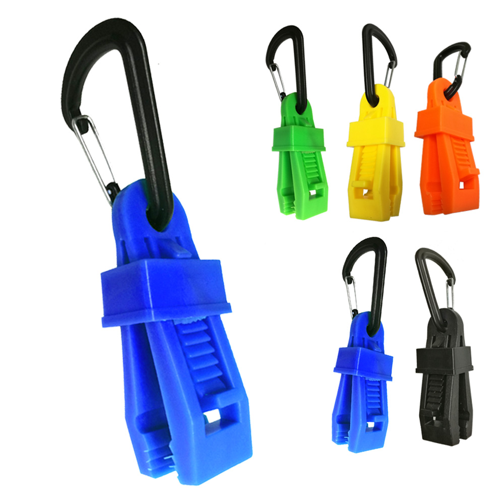 2/6/12/24 PCS Big Size Tent Canopy Windproof Securing Buckle Clip With Carabiner Hook Awning Wind Rope Clamp For Outdoor Camping