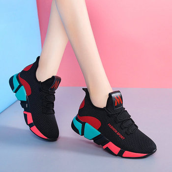 Women Sneakers Fashion autumn shoes winter Breathable Air Mesh Lace Up Casual Shoes Ladies Soft Flat Comfort Walking Shoes